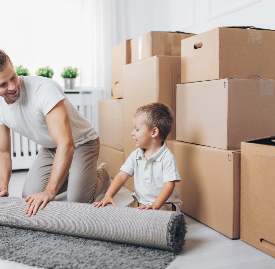 moving-concept-father-and-son-moving-to-a-new-YD9WNCK